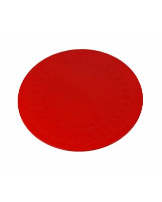 tapis rond antiderapant rouge 14 cm